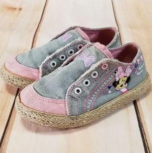 Disney Minnie Mouse Canvas Jute Slip On Sneakers
